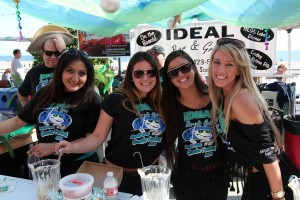 Representatives from award-winning Ideal Bar & Grill at the 32nd annual Santa Cruz Clam Chowder Cook-Off and Festival