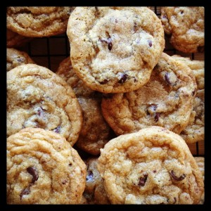Chocolate chip cookies from Sweet Cheeks Santa Cruz, a participant in the 2013 Bonny Doon Art & Wine Festival
