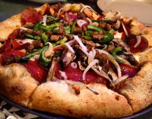 Pizza from Woodstock's in Santa Cruz