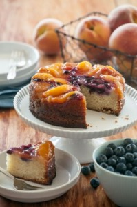 New Summer Peach-Blueberry Upside Down Cake at Whole Foods Market
