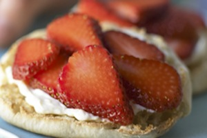 Get a recipe to make this skinny strawberry sandwich at the California Strawberries web site