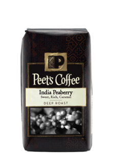 Peet's Coffee and Tea limited edition India Peaberry coffee