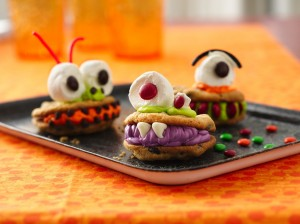 Chomping Monster cookies require only 4-8 ingredients to make