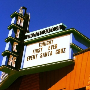 The marquee from the first Event Santa Cruz in September 2013