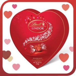 LINDOR Elegance Heart filled with milk chocolate truffles for Valentine's Day. Photo credit: Lindt Chocolates