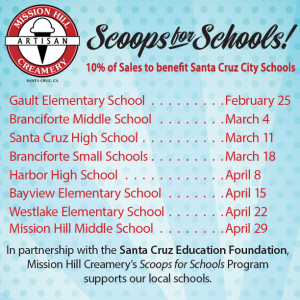 Eat ice cream to benefit Santa Cruz City Schools