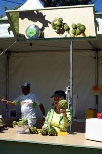 Chef demo at a previous Castroville Artichoke Festival