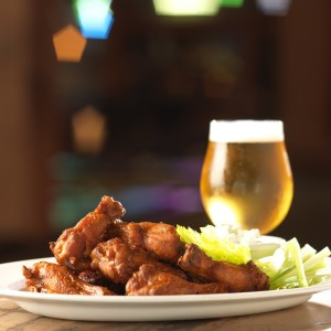 Buffalo wings and beer at Cannery Row Brewing Company