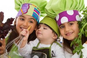 Kids enjoy cooking at New Leaf Community Markets