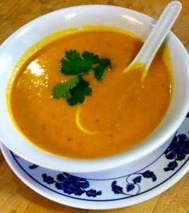 New and improved vegan butternut squash soup at Santa Cruz restaurant Charlie Hong Kong