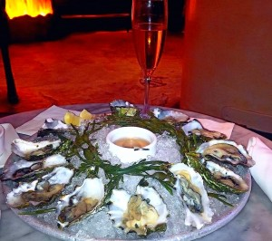Oysters and champagne at Farallon Restaurant SF
