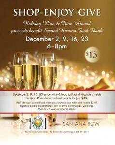 Santana Row is hosting a holiday wine & shopping event