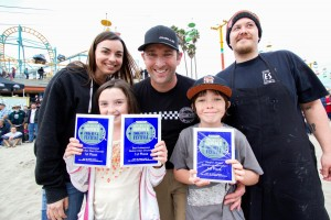 Big winner Derek Rupp & his Pleasure Pizza Eastside Eatery crew and family. Photo credit: Santa Cruz Beach Boardwalk Facebook page