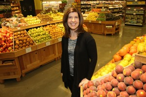 Wendie Collie, New Seasons Market CEO, at a Portland store