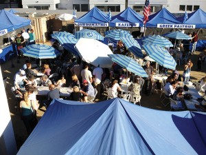 Attendees enjoying a past Santa Cruz Greek Food Faire