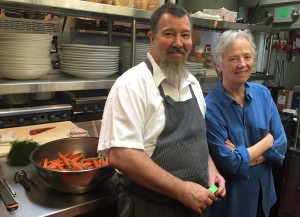Soif chef Mark Denham and owner Patrice Boyle in the newly renovated kitchen. Photo credit: Soif