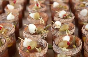 Bloody Marys from Chef Brad Briske, at the 2014 pop-up breakfast series.  Photo credit: Carolyn Lagatutta