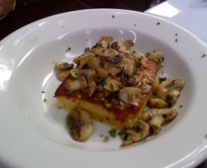Mushroom polenta for Casa Nostra's Aug. 22 event