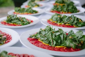 Salad at a previous HGP Sustain dinner. Credit: Crystal Birns