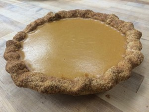 Pumpkin pie from ManresaBread, available for pick up in Los Gatos or Santa Cruz Photo credit: ManresaBread