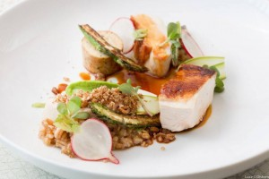 An August dinner entrée at Michelin-starred Luce, which will offer a three-course prix-fixe Thanksgiving menu Credit: Luce Restaurant