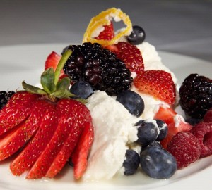 Berries and cream at the Chaminade