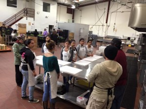 Teen participants from Teen Kitchen Project's new spot at El Pajaro CDC Incubator Kitchen