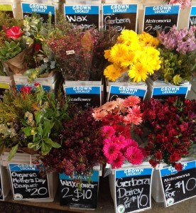 A few flower bouquets from the bounty available at Whole Foods Market in Capitola