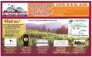 The Summit Wineries presents Solstice on the Summit Father's Day weekend Credit: The Summit Wineries