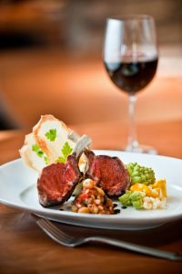 Dinner and wine at Edgar's at Quail Lodge & Golf Club (photo credit: Quail Lodge & Golf Club)