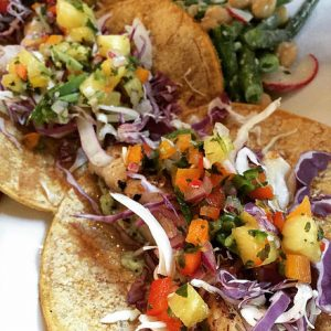 Fish tacos from a past Ocean2table pop-up
