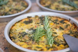 Vegetable frittata with sweet potato crust from The Healthy Way